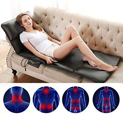 YUASIA Massagesitzauflage Shiatsu Massageauflage Massagematte mit Wärmefunktion - Elektrisch Rückenmassagegerät Schmerz Lindern für Nacken Rücken Taille Hüfte Bein, Auto Büro Haus, Sitzen und Liegen