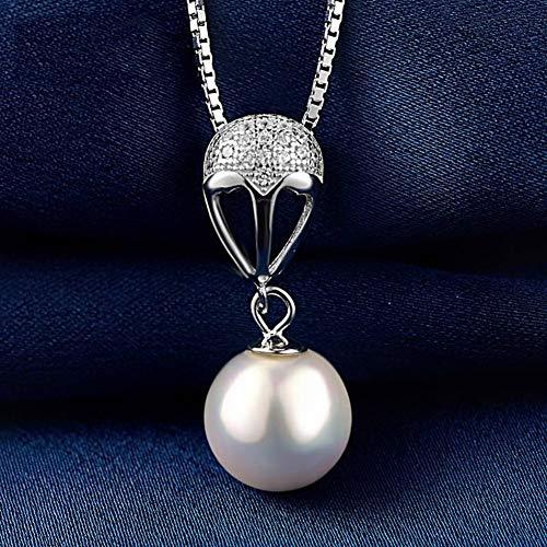Thumby S925 Sterling zilveren ketting vrouwelijke eenvoudige kralen hanger sleutelbeen ketting vrouwelijke mode persoonlijkheid accessoires zilveren sieraden, met ketting, zoals getoond