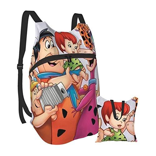 TV-Show The Flintstones Folding Tragbarer Rucksack - Ultraleichter tragbarer wasserfester Reisewandererrucksack Tagesrucksack