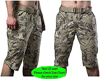 H World Shopping Military Army Combat Cool Hiking Mens BDU 3/4 Short Pants Multi Pouch All Terrain Camo