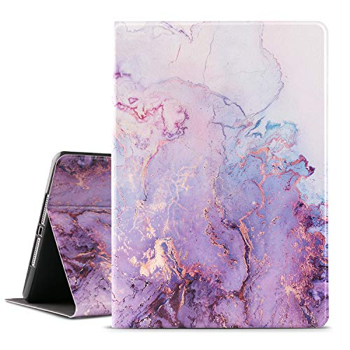 Ipad Case 9.7 Inch 2017 2018/Ipad air Case/Ipad Air 2 Case,Vimorco Apple Ipad 6th/5th Generation Cases with Auto Wake/Sleep, Premium Leather Folio Stand Cover, Purple Quicksand