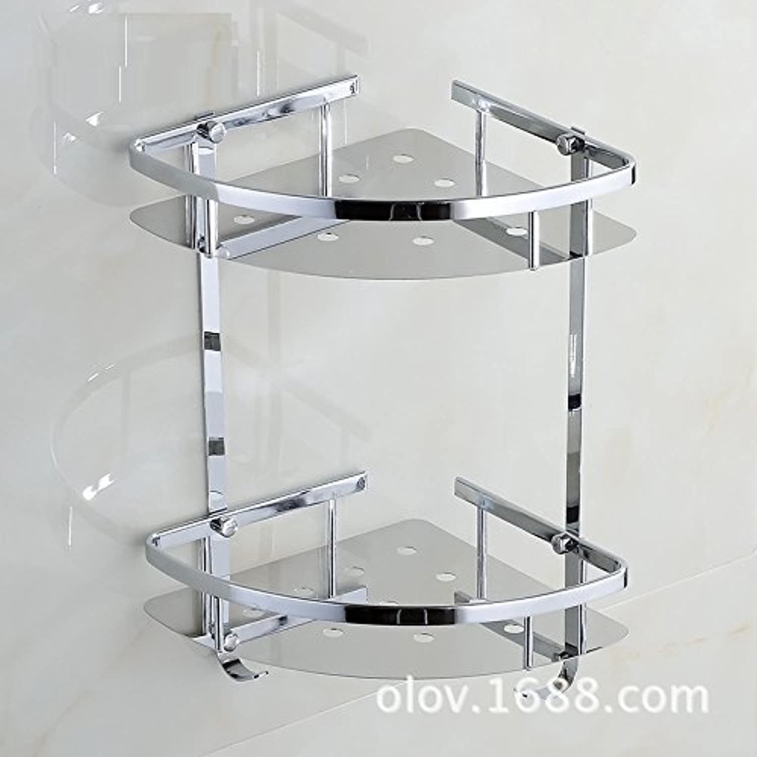 Stainless steel bathroom shelves bathroom shelf wall-mounted toilet triangle basket Stainless steel Tri-single layer