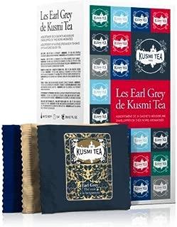 Kusmi Tea - Earl Grey Sampler - Assortment of Earl Grey Tea Blends including Anastasia, Troika, St. Petersburg & More! - 6 Premium Loose-Leaf Earl Grey Black Teas in 24 Eco-Friendly Muslin Tea Bags