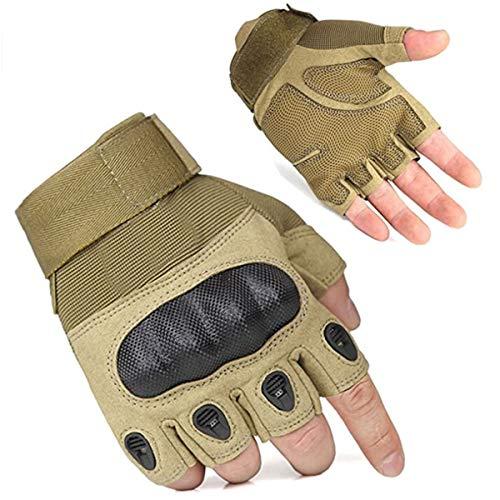 Men's Half-finger Fingerless Outdoor Sports Working Gloves Camping Hiking Bike Cycling Gloves Skateboarding Roller Skating Gloves