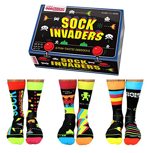 Sock Invaders Retro Gamer Oddsocks Socken in 39-46 im 6er Set - Strumpf
