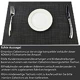 KOKAKO Platzsets(6er Set),Rutschfest Abwaschbar Tischsets Tischmatte PVC Abgrifffeste Hitzebeständig Platzdeckchen,Schmutzabweisend und Waschbare,Platz-Matten für Küche Speisetisch (Dunkel Grau) - 3