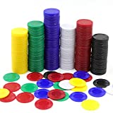 Darovly 600Pcs Plastic Poker Mini Chips in 6 Colors Bulk Poker Card Game Chips for Game Play Learning Math Counting Kids Teaching Rewards(2.2CM in Diameter)