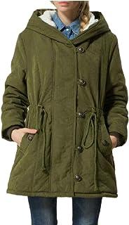 omniscient Women Coat Hoodie Parkas Overcoat Fleece Drawstring Outwear Jacket