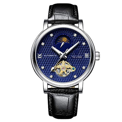 Festnight TEVISE T612 Business Men Orologio Meccanico Automatico Time Moon...