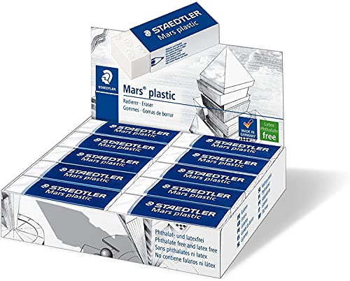Staedtler Mars plastic 526 50 Gomma, 65 x 23 x 13 mm, Confezione da 20