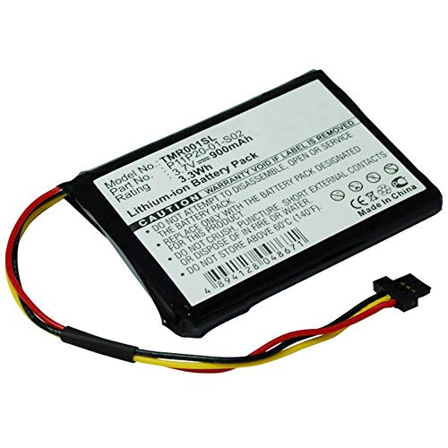 subtel® Batería Premium Compatible con Tomtom Route XL, One XXL 540, XXL 550, XXL IQ Routes, ICP653443M,P11P20-01-S02,S2IP002405148 900mAh Pila Repuesto bateria
