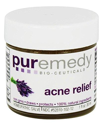 Puremedy - alivio de acné - 1 oz. Antes acné libre fórmula...