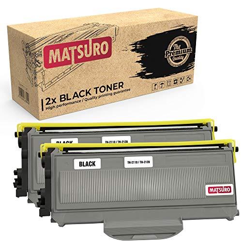 Matsuro Original | Compatible Cartucho de Toner Reemplazo para Brother TN-2110 TN-2120 (2 Negro)