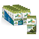 gimMe Organic Roasted Seaweed Sheets - Extra Virgin Olive Oil - 12 Sharing Packs - Keto, Vegan, Gluten Free - Great Source of Iodine and Omega 3's - Healthy On-The-Go Snack for Kids & Adults