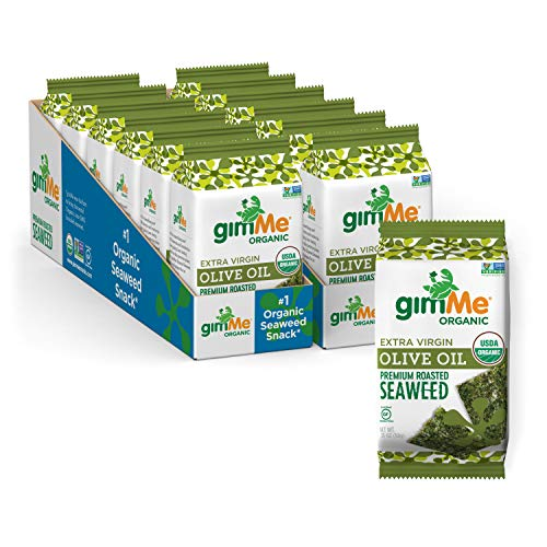 gimMe Organic Roasted Seaweed Sheets - EVOO - 12 Sharing Packs Only $11.81