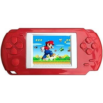KOBWA Handheld Console de Jeu Enfant, Construit en 268 Classique Vieux Jeux Console de Jeu Portable, The 80 's Arcade Système de Jeu vidéo (Rouge)