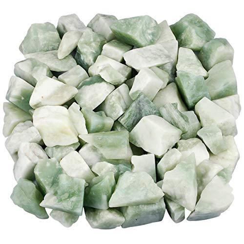 Nupuyai Rohsteine Edelsteine Xiuyan Jade Steine Heilsteine Dekosteine Natursteine für Reiki Heilung Dekoration