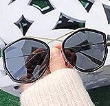 HO 2019 Occhiali da Sole Femminili Big Box Occhiali poligonali Ocean Piece Harajuku Visiera Specchio Tendenza Tempo Libero Specchio Guida Specchio Versione Coreana dello Specchio Selvaggio,A