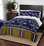 The Northwest Company NFL Baltimore Ravens Rotary Twin Bed in a Bag Set, 64'' x 86''', Multicolor
