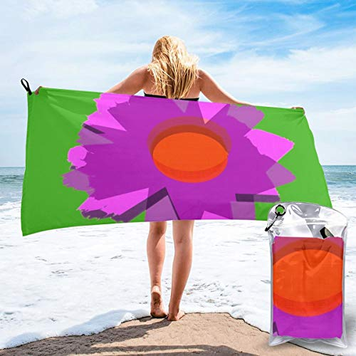Ltjw Flower On Leaf (FaSports Towel for The Beach - Gym - Camping - Swimming - Yoga And Pilates - Quick Dry, Lightweight And Compact
