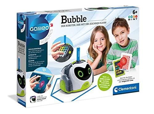 Clementoni 59231 Galileo Robotics – Bubble, interaktiver Zeichen-Roboter, Programmieren & Codieren für Einsteiger, elektronisches Spielzeug für Kinder ab 6 Jahren zu Weihnachten