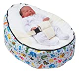 MamaBabaBebe Baby Bean Bag snuggle bed bouncer with Safety Harness