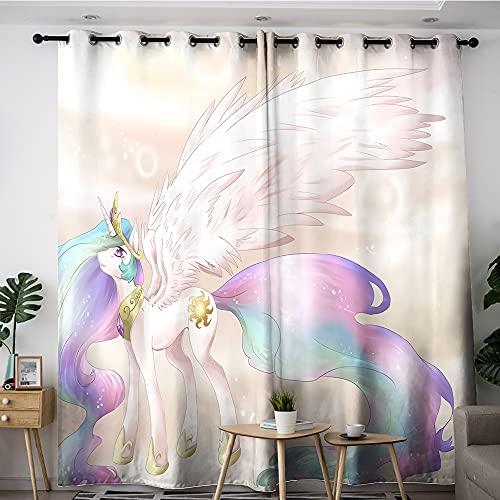 Home Cortinas para sala de estar My Little Pony FiM PRINCESS CELESTIA para habitaciones de niños 213 x 160 cm