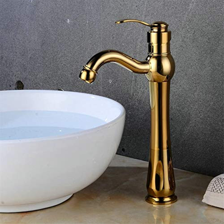 Waschtischarmatureneuropische Antike Messing Einzigen Loch Einzigen Waschbecken Wasserhahn Heies Und Kaltes Bad Mit Hoher Waschbecken Wasserhahn