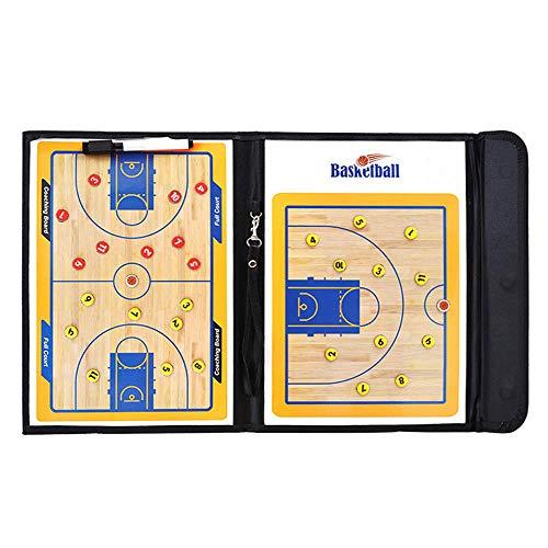 JSX Basketbal Tactical Coach Strategy Committee Coach's Training Equipment Assist, Dry Wipe Coach Mark Tactics Board Whiteboard, PU lederen hoes, lichtgewicht en draagbaar