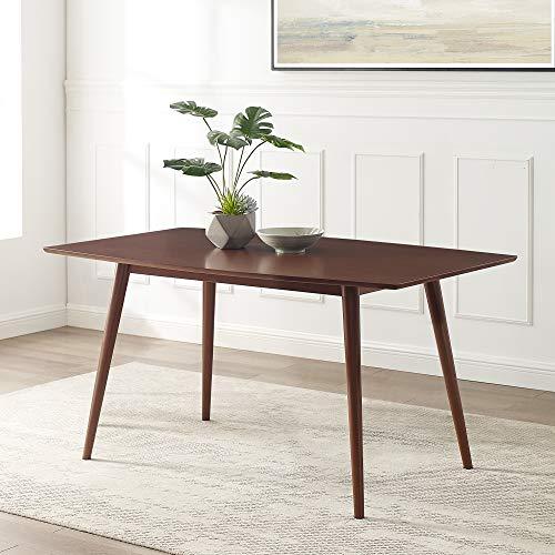 Walker Edison Furniture Company AZW60MCWT Mid Century Modern Wood Dining Table, 60', Walnut