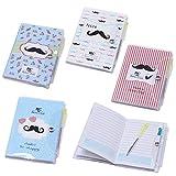 Lote de 20 Libretas Notas Pvc'Moustache' Con Bolígrafo para
