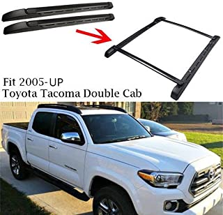 ANTS PART for 2005-2018 Toyota Tacoma Double Cab Top Roof Rack Cross Bars Baggage Carrier Bars Pair Set