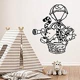 wZUN Oso Pegatinas de Pared Papel Tapiz de Arte Autoadhesivo para la decoración de la habitación de los niños calcomanías de Arte de Pared de Fondo 42X46cm
