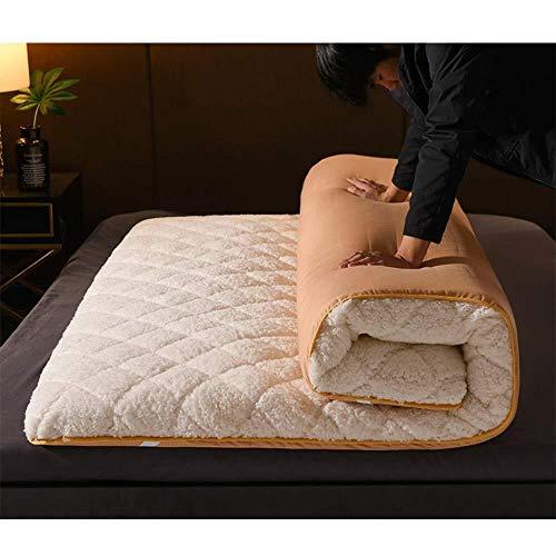 Matte opvouwbare matras van pluche warme etagère bed topper Tatami eenpersoonsbed tweepersoonsbed 150x200cm(59x79inch) B