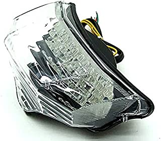 Motocycle LED Integrated Rear Running Tail Stop Brake Light Super Bright Tail Light Fit For Yamaha 2004-2008 05 06 07 FZ6 FAZER FZ600 Clear