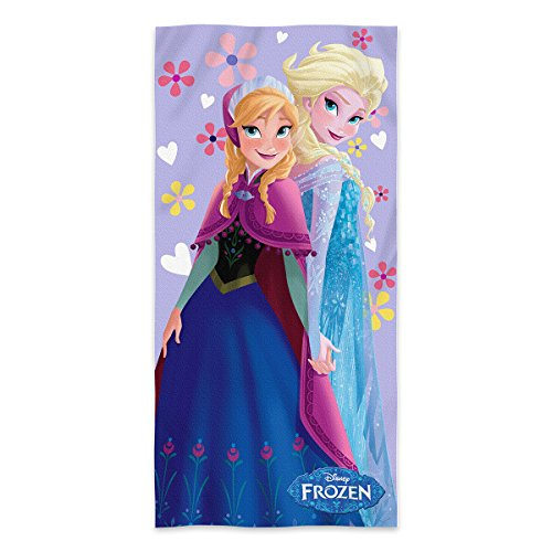 Disney Frozen Elsa and Anna Fiber Reactive Beach Towel 30x60 Inches - Purple by SLHF