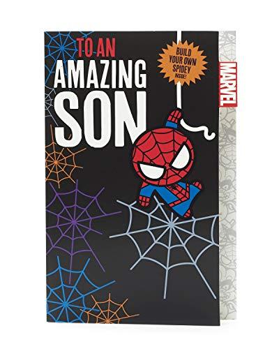 Spiderman Verjaardagskaart voor zoon – om zelf te bouwen van Spiderman – verjaardagskaart voor zoon – verjaardagskaart voor kinderen – cadeau voor Marvel verjaardagskaart – Spider Man geschenken
