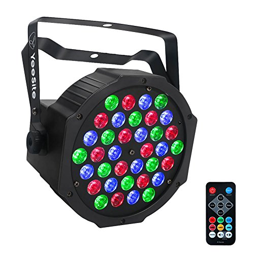 LED Par Lights, YeeSite 36W Stage Lights Sound Activated Auto Play by Remote and DMX Control Uplights for Wedding Stage Lighting Birthday Party