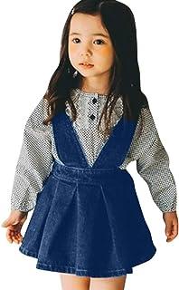 eef662d1362 Nesee Baby Girls Suspender Skirt Infant Toddler Denim Casual Strap Sundress  Summer Outfit Clothes Overalls Dress