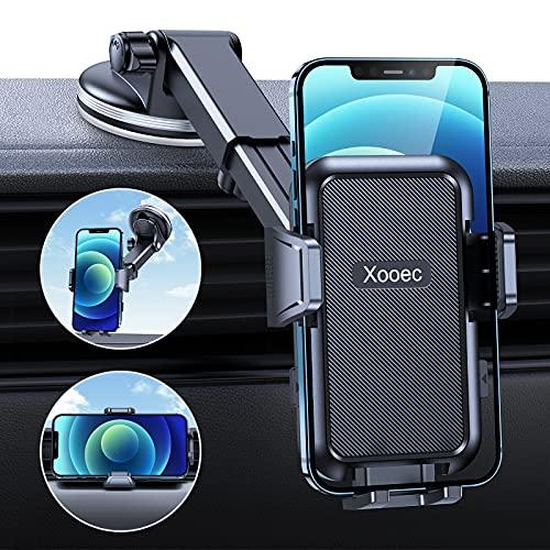Handyhalterung Auto, Xooec [Mega Stärke Saugkraft], 4 in 1 Kfz Handyhalterung Saugnapf & Lüftung, 360° Drehung Handyhalter fürs Auto Für Alle Handys & Alle Autos iPhone Samsung Huawei LG