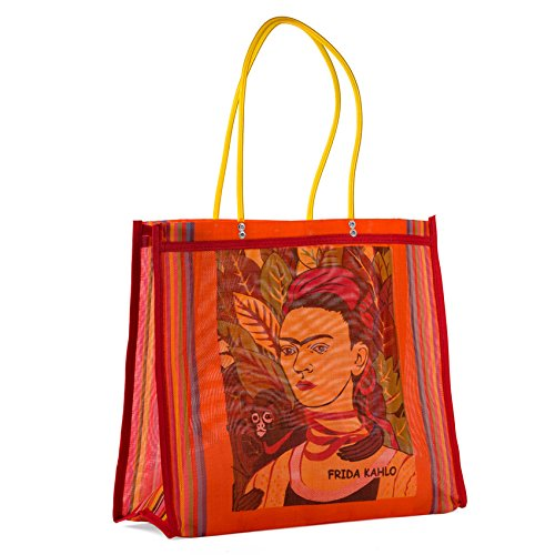 FANMEX - Fantastik - Bolsa Mexicana de Mercado Frida Kahlo asa Larga (Naranja)