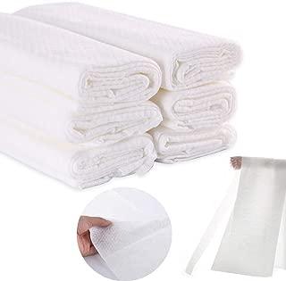 COSMOSS Disposable US Grade Cotton Single Use Linen Feel Shower Bath Big Towels