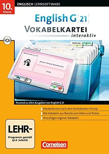 English G 21 - Lernsoftware - Vokabelkarteien interaktiv - zu allen Ausgaben: Band 6: 10. Schuljahr - CD-ROM