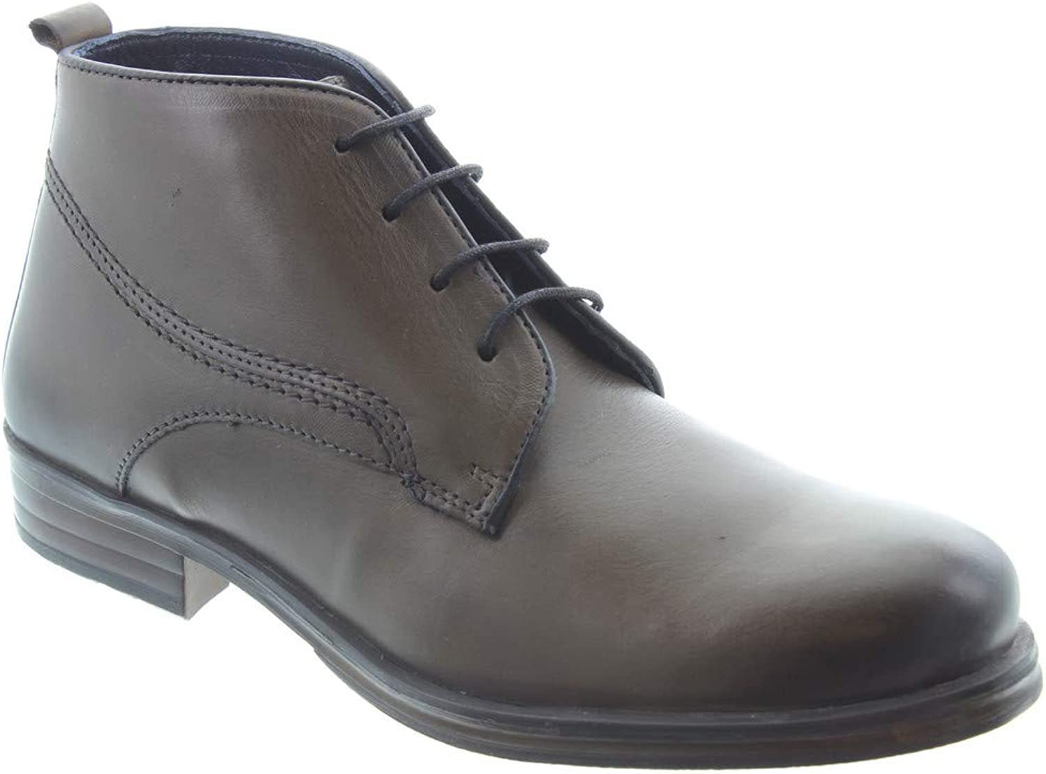 Adesso - Mens Harry Lace Boots in Charcoal