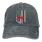 Dyfcnaiehrgrf Bandera Americana Motocross Dirt Bike Deportes Denim Cap ajustable Snapback Casquetas Unisex béisbol sombrero vaquero