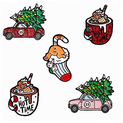 PiniceCore Árbol De Navidad del Coche De 5pcs Niños Helado Calcetines Broche Cristalina Linda Espumoso Copa De Helado Calcetines De Coches