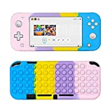 Jowhep for Nintendo Switch Lite Silicone Case Fidget Toy it Funny Fun for Switch Lite Games Cover Soft Design Shell for Girls Boys Kids Cases for Switch Lite Controllers (Color Bubble)
