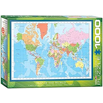 EuroGraphics Modern Map of The World Puzzle  1000-Piece