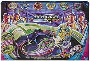 Hasbro Beyblade Burst Rise Hypersphere Extreme Challenger Battle Set – Exclusivo Set de Beystadium Arena 6 giroscopios y...