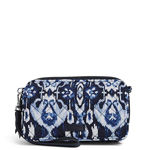 Vera Bradley Cotton All in One Crossbody Purse with RFID Protection, Ikat Island